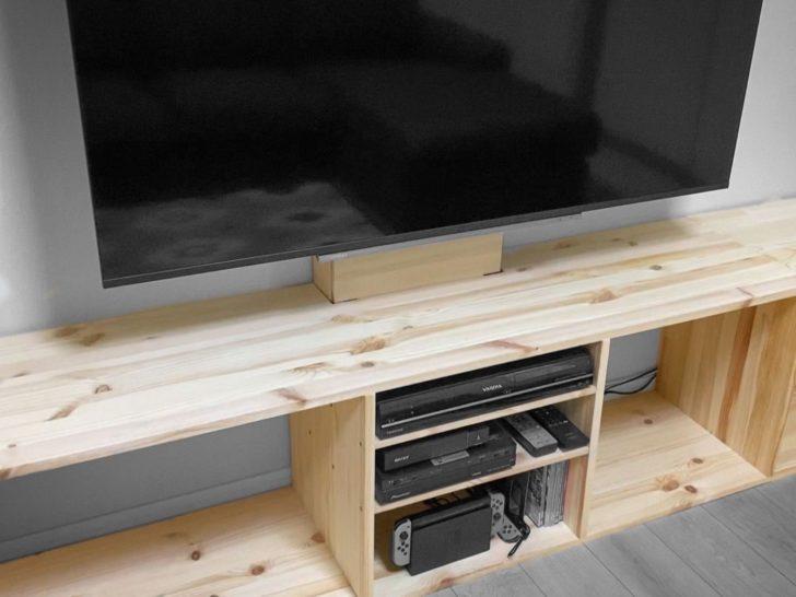 【DIY】パイン集成材でテレビ下の240cm幅ローボードを自作しました!
